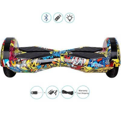 Lamborghini Style, Electric Self Balancing Scooters : 8″, Graffiti Yellow, Bluetooth