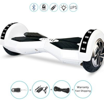 Lamborghini Electric Self Balancing Scooters : 8″, White, Bluetooth