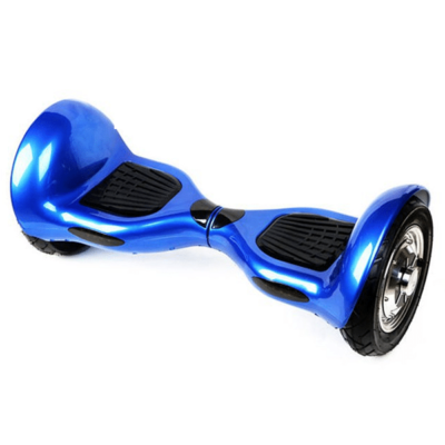 Smart Self Balancing Scooters: 10″, Blue Chrome, Bluetooth, Remote + Free Carry Bag