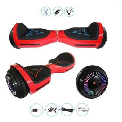 6.5″ Hoverboard, Self Balancing Scooter: Bluetooth, Speakers & Free Carry Bag