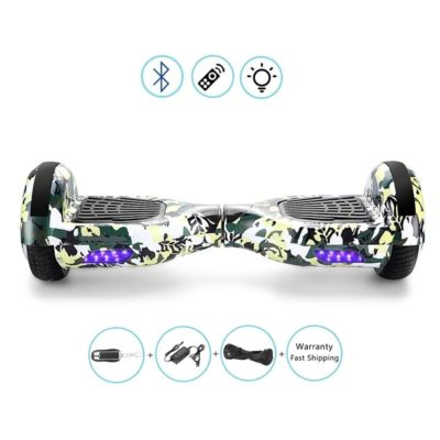 Hoverboard, Self Balancing Scooter : Falcon 6.5″, Military, Bluetooth + Free Bag