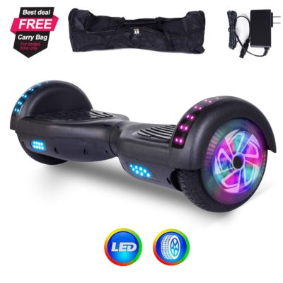 Hoverboards India T6 : Black Color, Bluetooth, Speakers, Led Lights