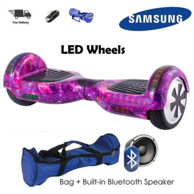 Hoverboards India T6 – 6.5″, LED Wheels, Remote, Universe
