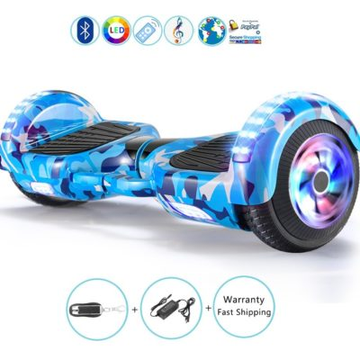 Hoverboards India T6 – 6.5″, LED Wheels, Blue Millinery
