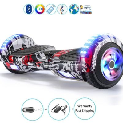 Hoverboards India T6 – 6.5″, LED Wheels, Remote, Bluetooth, Street