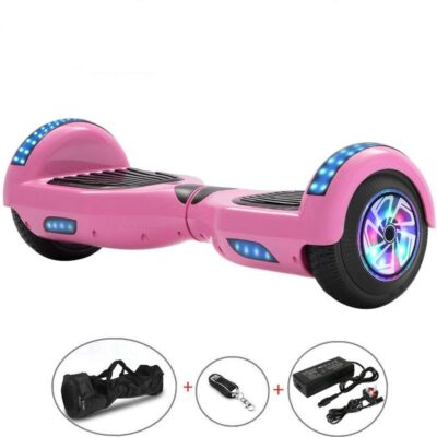Hoverboards India T6 – with Carrying Handle, Pink, Bluetooth, Speakers