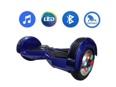 8 inch blue hoverboard with carrying handle 4