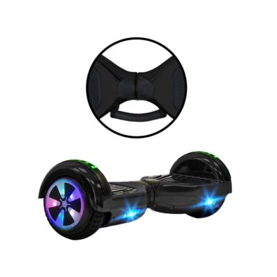 Black 6.5 inch hoverboard with handle