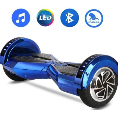 Hoverboards India T8+: Hoverboard with Mobile APP & LED Wheels, Blue