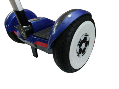 Blue hoverboard with handle and led wheels 2