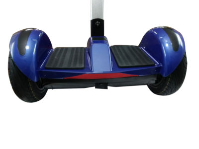 Blue hoverboard with handle and led wheels 3