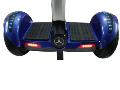 Blue hoverboard with handle and led wheels 5