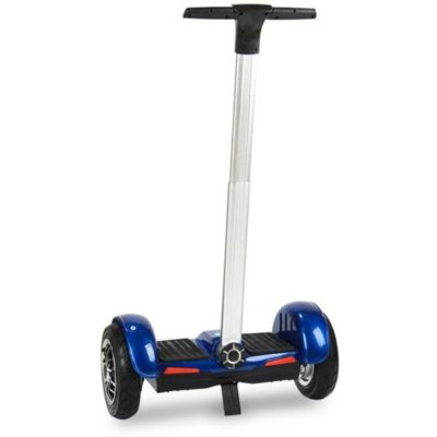 Blue hoverboard with handle and led wheels 7