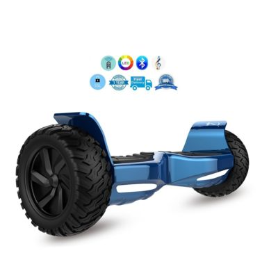 Blue off road hoverboard