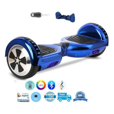 Hoverboards India T6+ – with Carrying Handle, 6.5″& Mobile APP, Blue