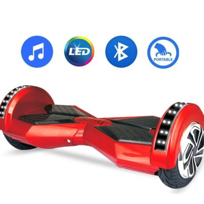 Hoverboards India T8: Hoverboard with Speakers, Bluetooth & LED Wheels, Red