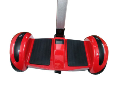 Red hoverboard with handle and led wheels 1