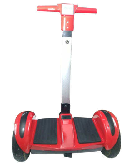 Red hoverboard with handle and led wheels 3