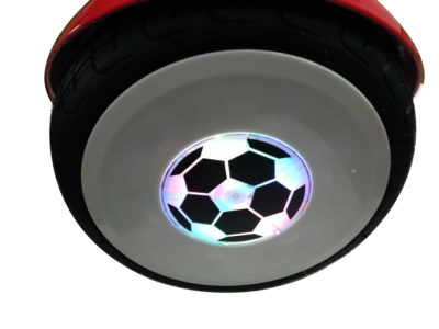 Red hoverboard with handle and led wheels 8