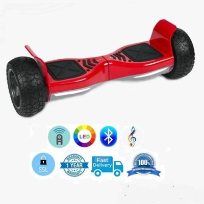 Hoverboards India T9 – Off Road, Self Balancing Scooter, LED Lights, Red
