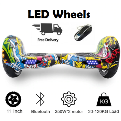 11 Inch Self Balancing Hoverboards with Carrying Handle, LED Wheels & Remote
