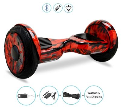 10 Inch off road hoverboard red fire