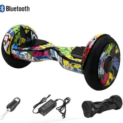 10.5 inch hoverboard, Hip Hop, Bluetooth, and Auto balancing