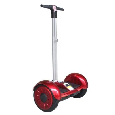 Red color hoverboard with handle